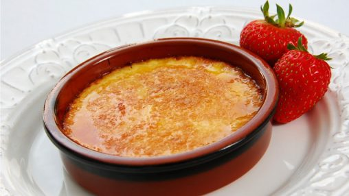 """Creme Brulee with Fresh Strawberries"" (WF)"